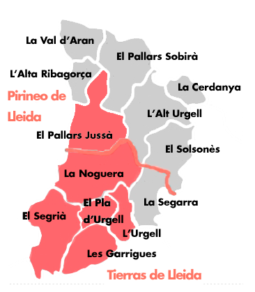Comarcas de la ruta del vino